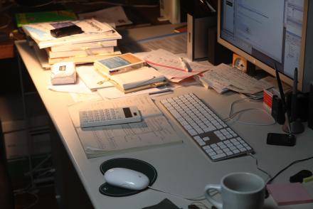 Webデザイナーの机