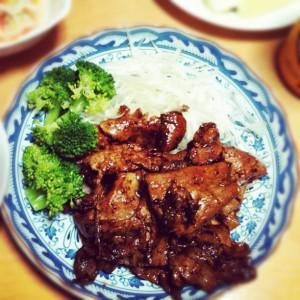 我が家の豚生姜焼き