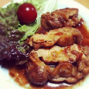 鶏もも肉のマーマレード照り焼き