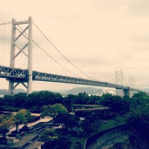 与島から見る瀬戸大橋