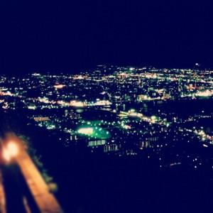 屋島展望台から望む高松市街の夜景