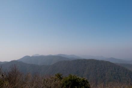 山頂から西側の景色