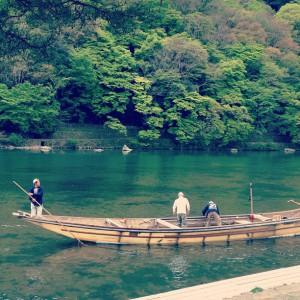 保津川下りの船