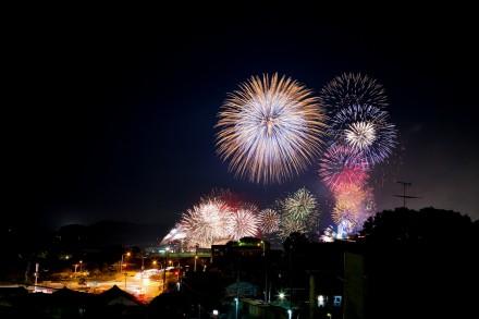 浜田市浜っ子夏まつりの花火